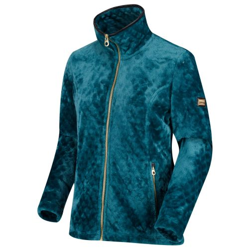 Women's Halona Diamond Pile Full Zip Fleece Deep Teal